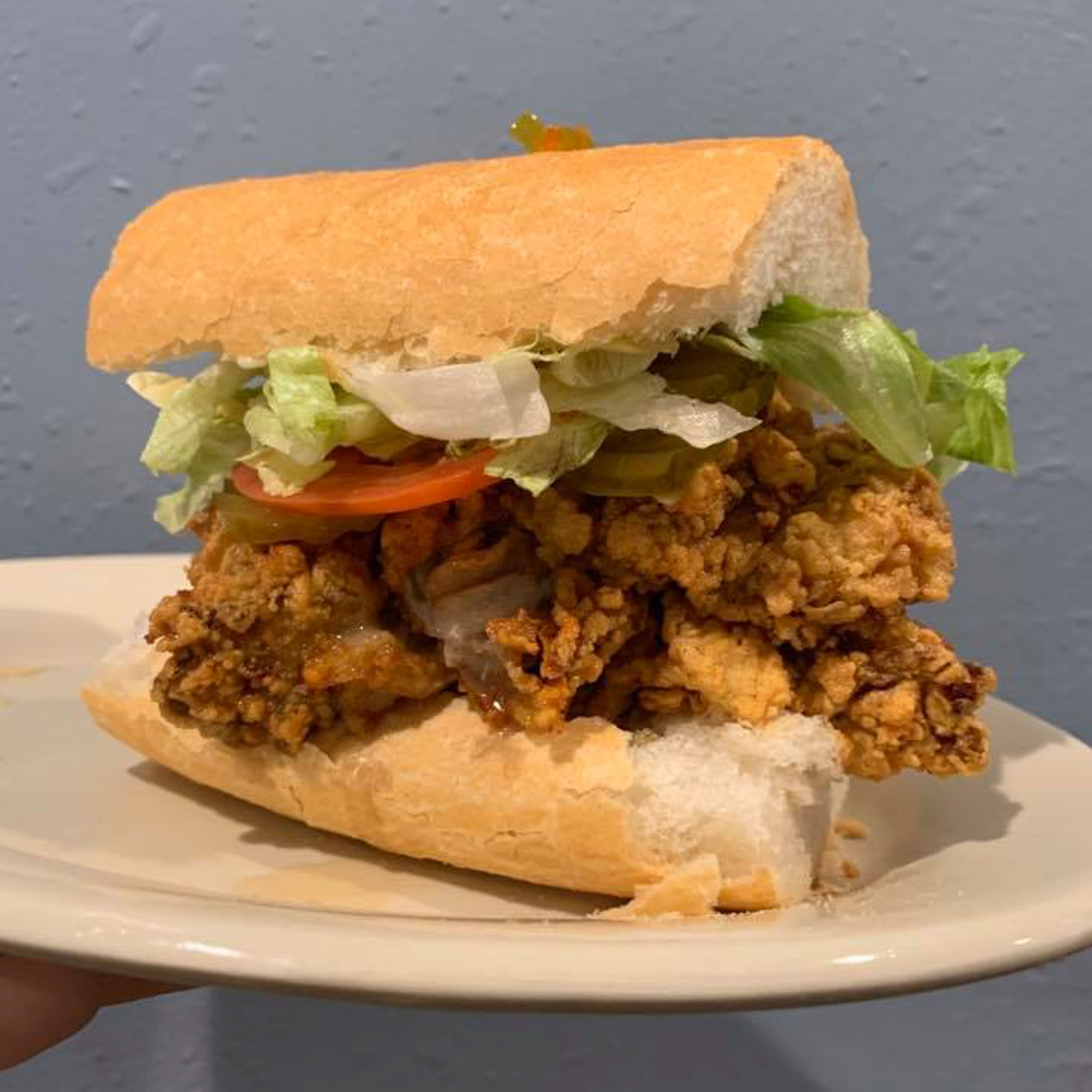 Po-boy at Harbour Seafood & Oyster Bar in New Orleans