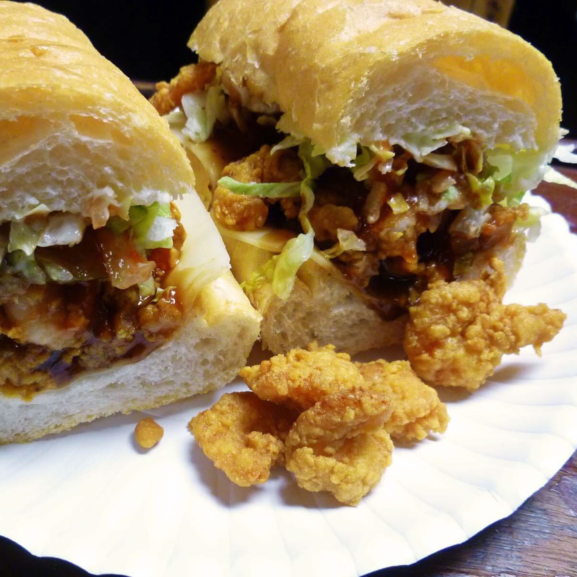 Po-boy at Domilise's in the Garden District in New Orleans
