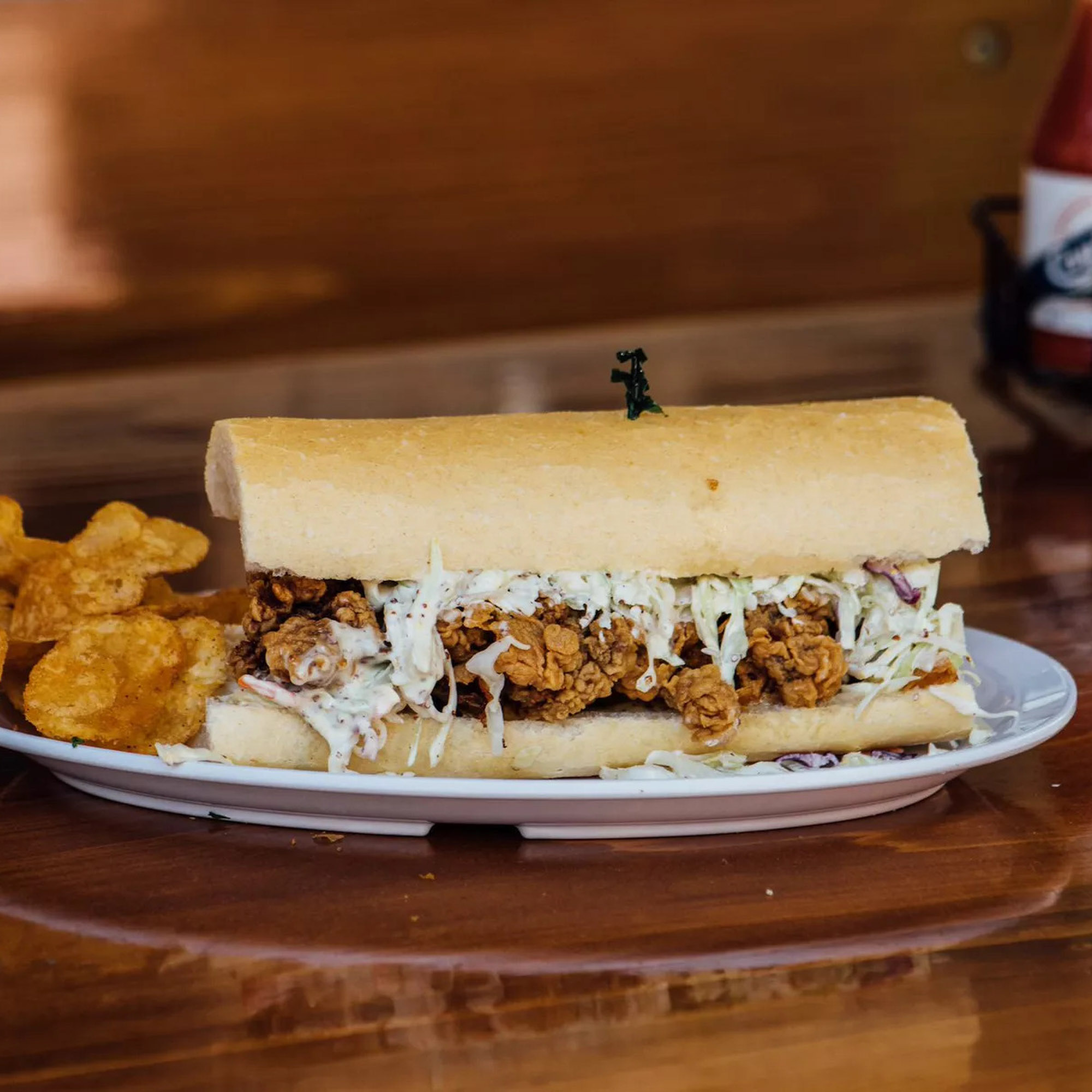 Po-boy sandwich at Mahoney's in New Orleans