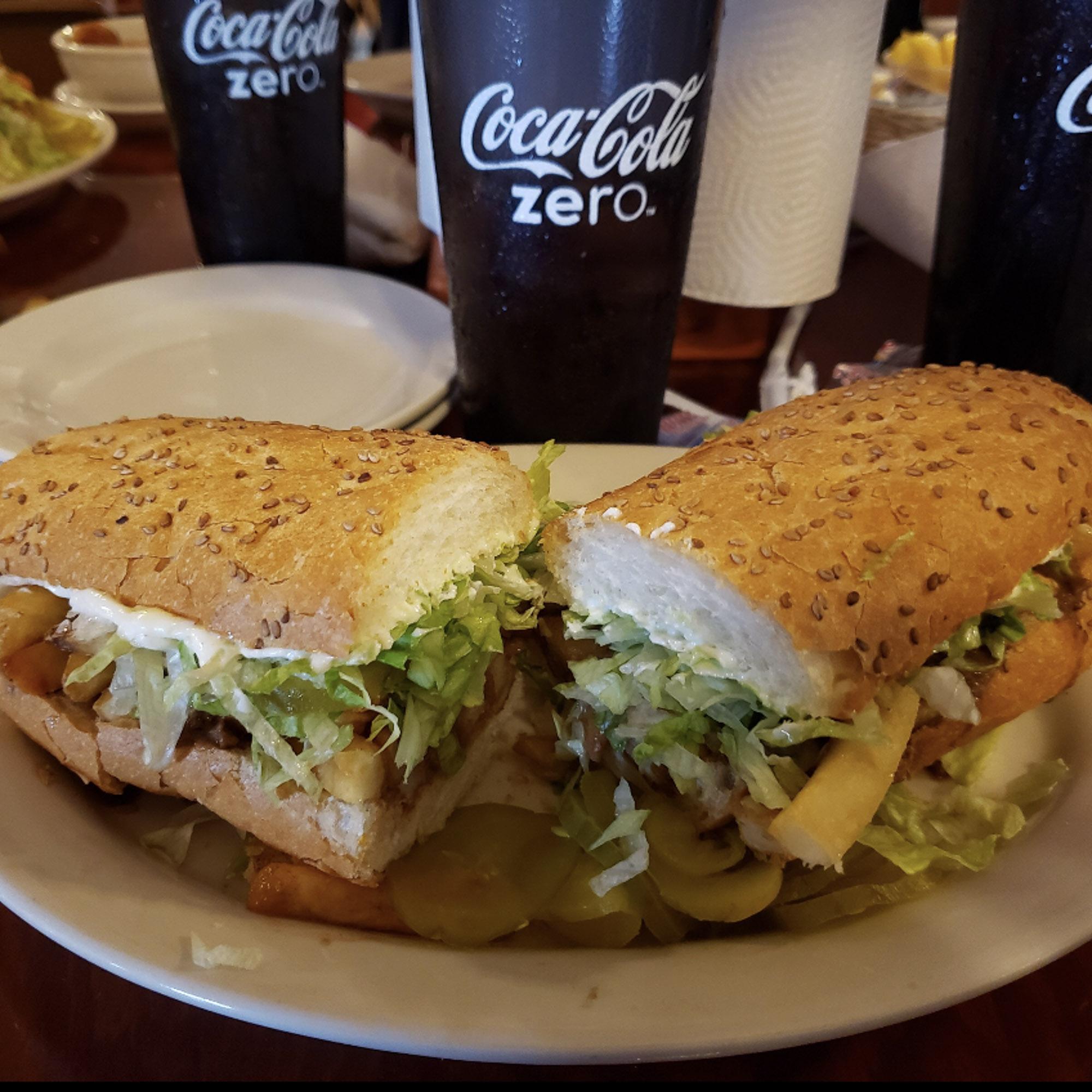 Po-boy sandwich at R&O in New Orleans