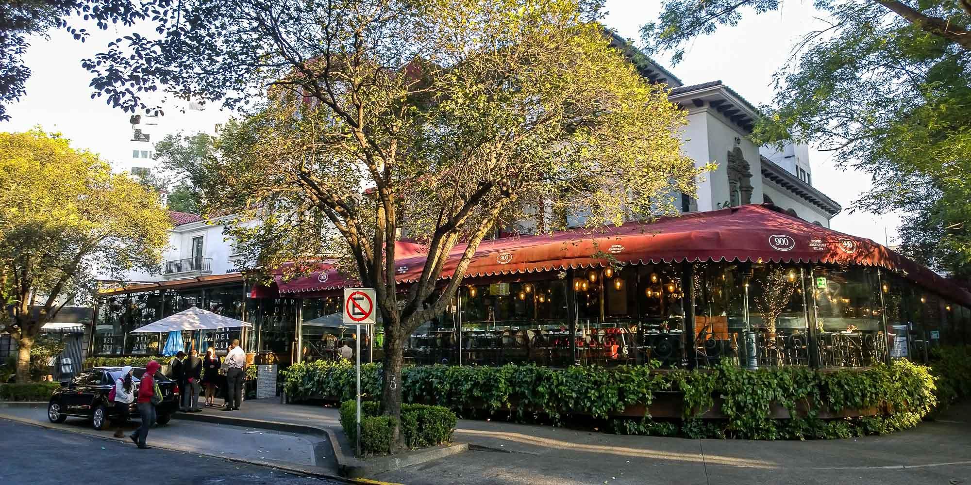 A restaurant in Polanco neighborhood in Mexico City