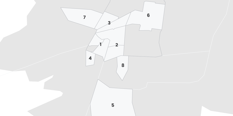 Map of Mexico City Neighborhoods