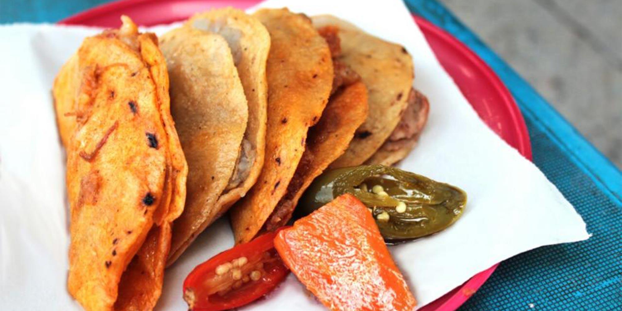 Canasta Tacos at Los Especiales in Mexico City