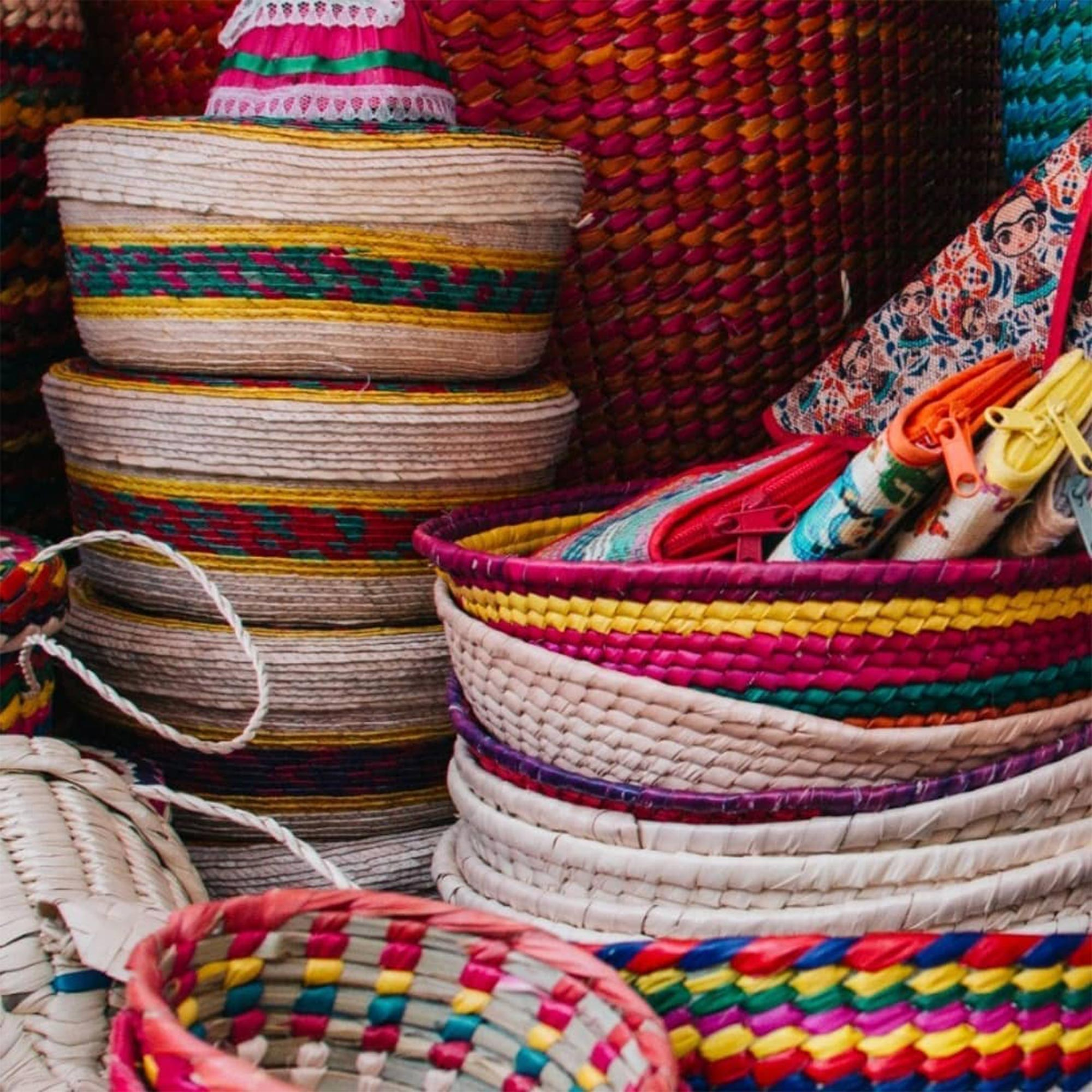 Bags and baskets made by Antonio a street vender in Condesa in Mexico City