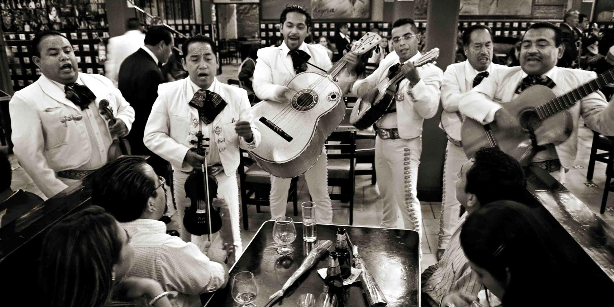A mariachi band playing live music in Mexico City