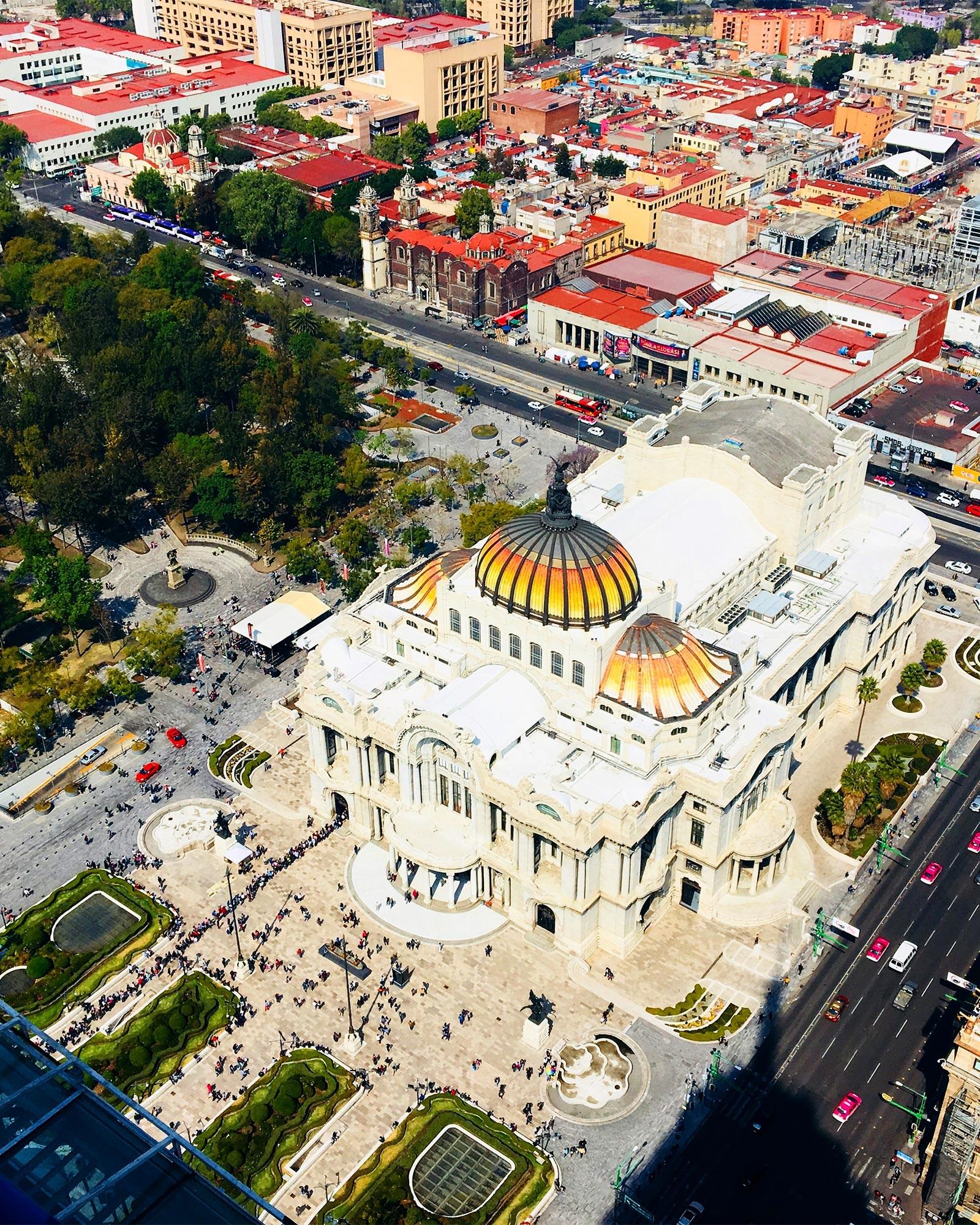 Palacio de Bellas Artes in Centro Histórico in Mexico City