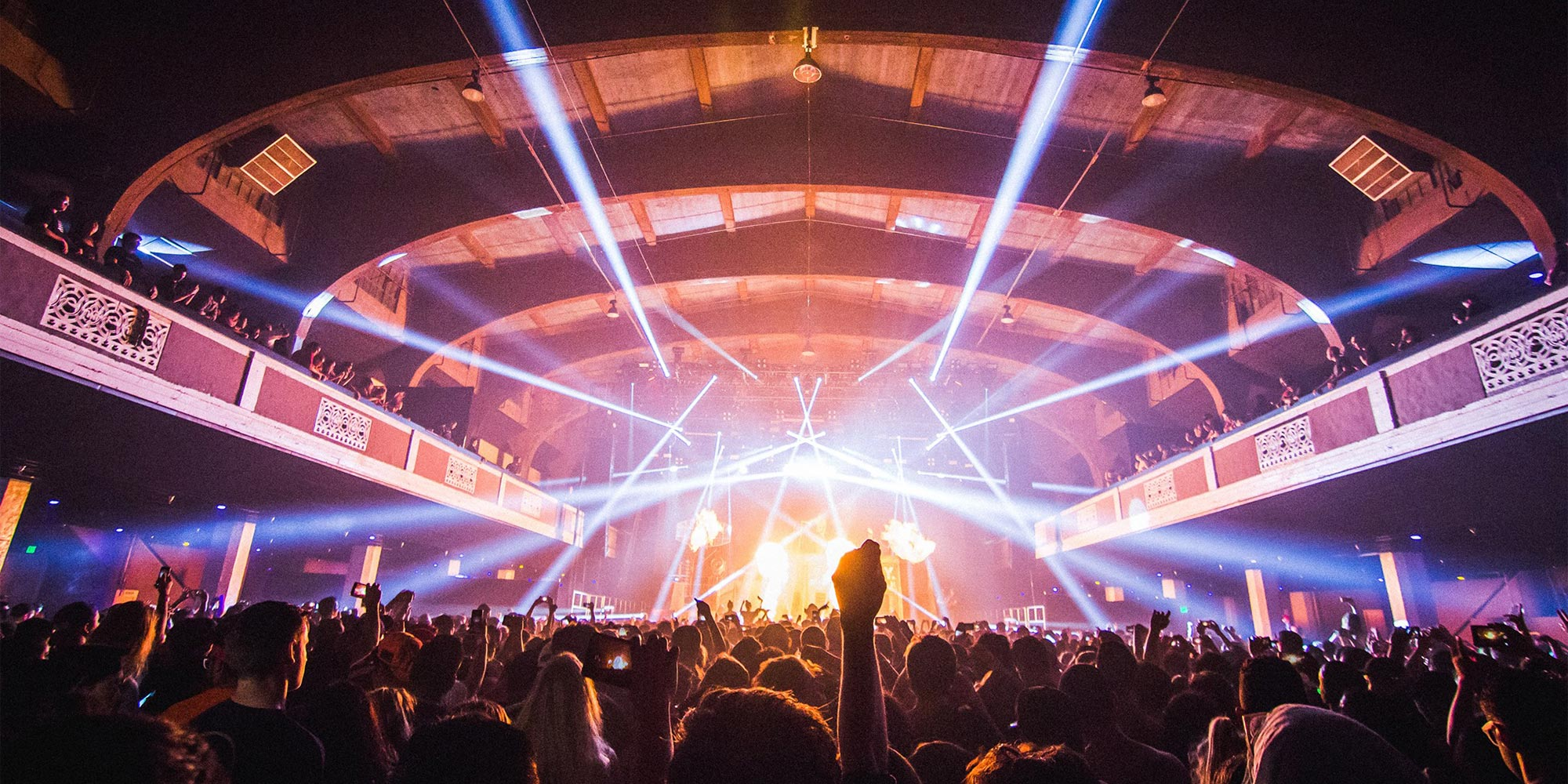 Shrine Auditorium for live music in Los Angeles, California.
