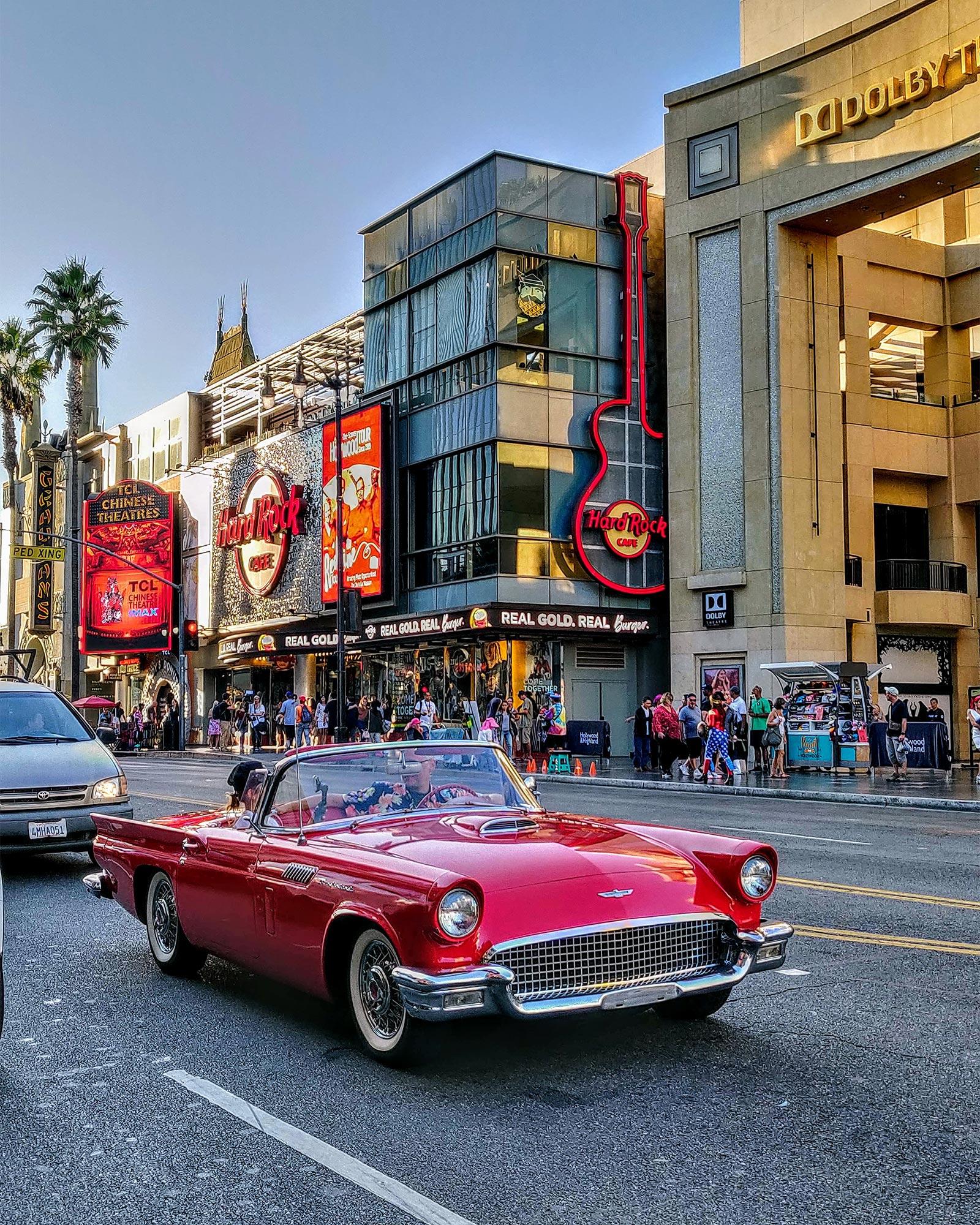 Hollywood neighborhood in Los Angeles.