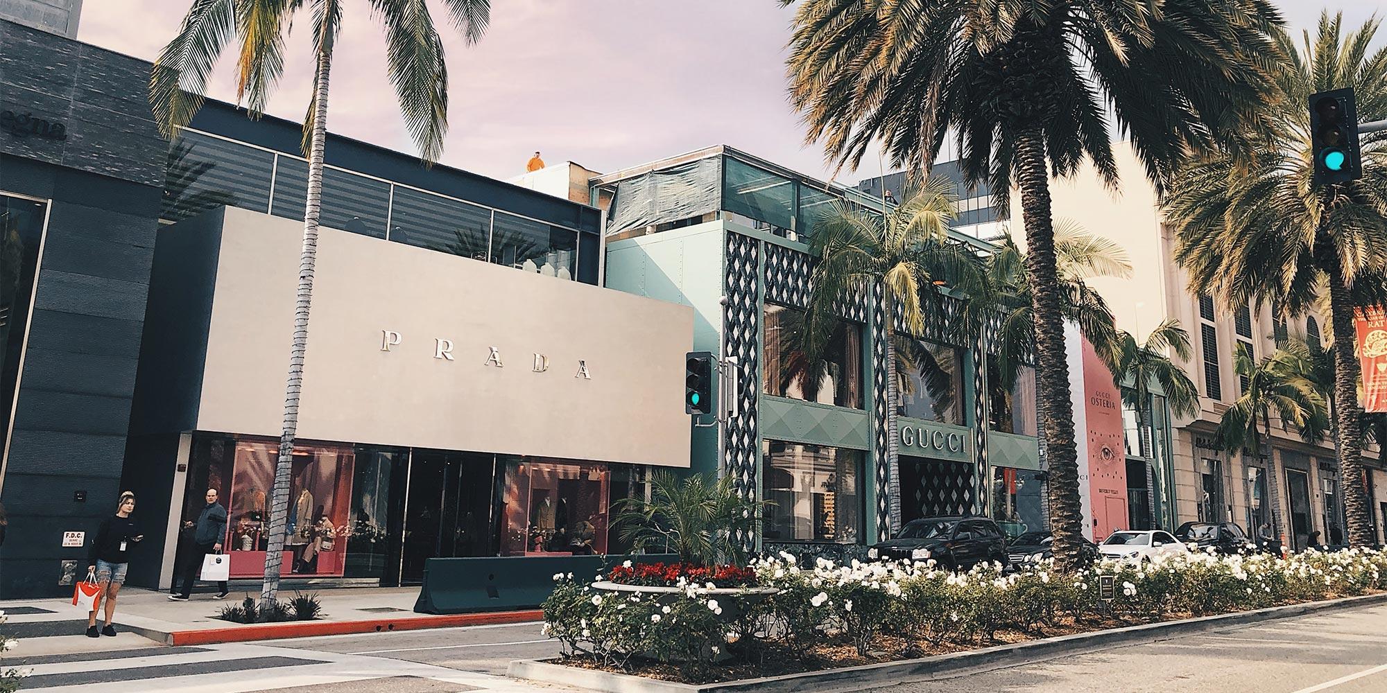 Beverly Hills neighborhood in Los Angeles.